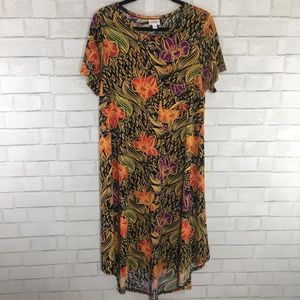 LuLaRoe Carly Dress, Floral Print, Size Large